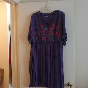 gauzy embroidered dress